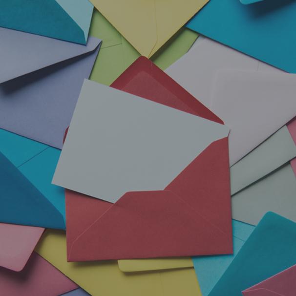 Brown glue for envelopes